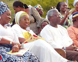Adelabu Erelu Fayemi and Osundare at the event
