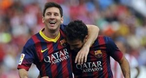 Lionel Messi and Cesc F b