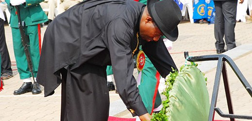 Photo News:2014 Armed forces  Remembrance  day Celebration Wreath laying Ceremony in Abuja Wednesday 15th January 2014