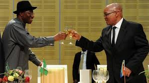 Presidents of Nigeria and South Africa, Goodluck Jonathan and Jacob Zuma