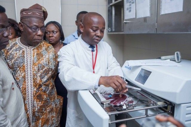 CHIEF OLUSEGUN OBASANJO AT THE KOMFO ANOKYE TEACHING HOSPITAL (KATH) IN KUMASI, GHANA, FOR WORLD SICKLE CELL DAY 2013