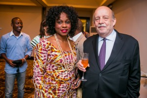 CEO Terra Kulture Bolanle Austen Peters and French  Consular General to Nigeria, Mr. Francois Sastowrne