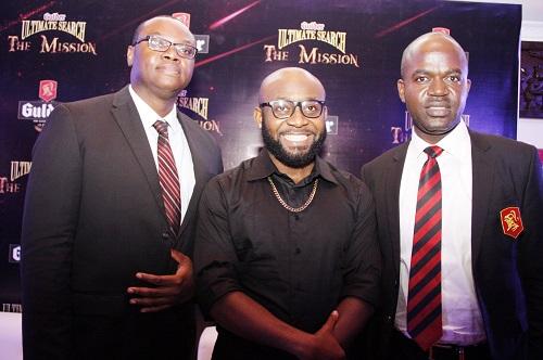 L-R, Senior Brand Manager, Gulder, Onyeka Okoli, Rapper 2shotz, and Marketing Manager, Gulder, Legend and Life, Emmanuel Agu