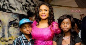 iyabo ojo with her lovely kids
