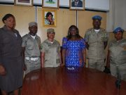 MoI Perm Sec with members of the peace corps