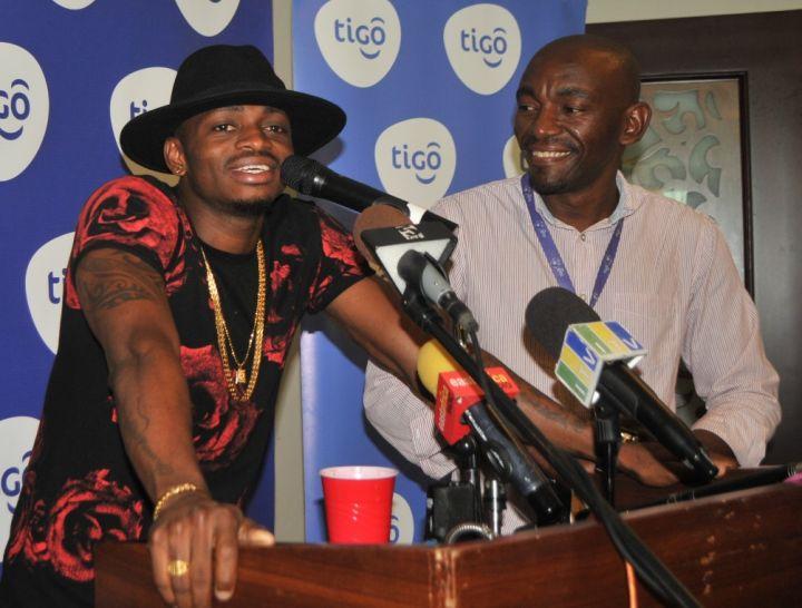 Award-winning vocalist Diamond Platnumz (left) shares his excitement for Tigo Music