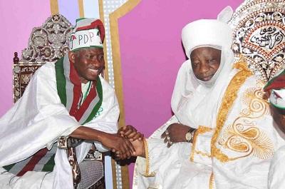 GEJ-Emir of Ilorin
