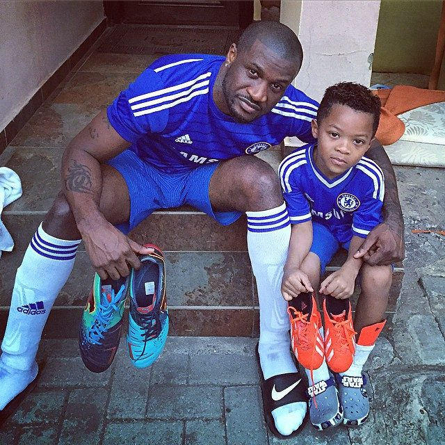 peter okoye and son