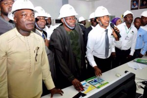 Jonathan at the new Egbin power station