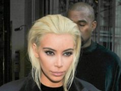 kim kardashian unveils edgy blonde new