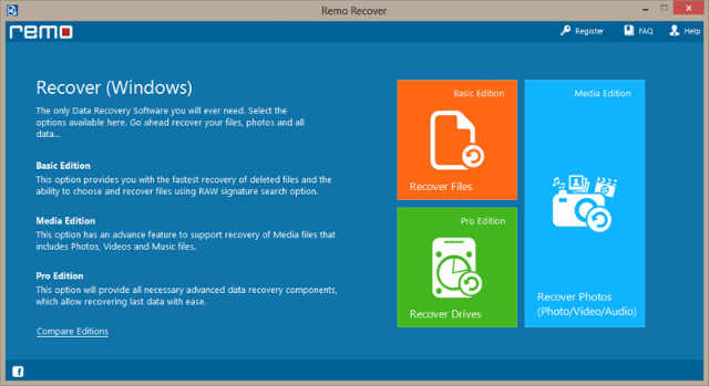 Remo-Recover-Windows-Media-Edition-dashboard