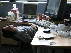 Sleeping at work Office Inefficiency