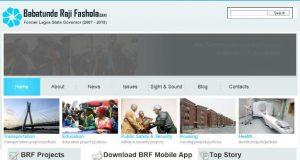 Babatunde Raji Fashola website screenshot