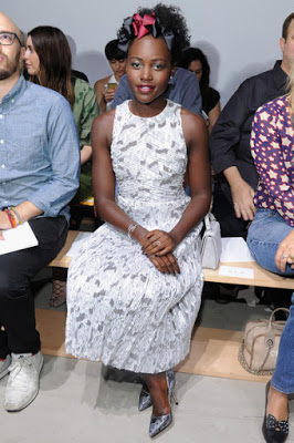 Lupita Nyong'o with her stylish headband
