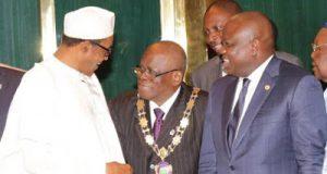 Akinwunmi Ambode President Muhammadu Buhari