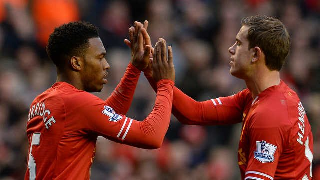 Daniel Sturridge and Jordan Henderson