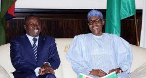 Presidents Faure Gnassingbe Muhammadu Buhari