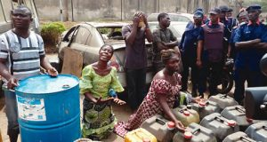 The suspects with officials of NSCDC