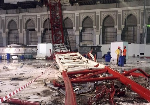 crane accident-mecca