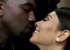 kimye kissing