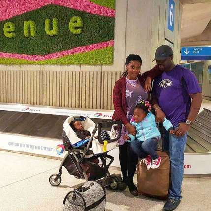 Mercy Johnson on vacation with family in Paris