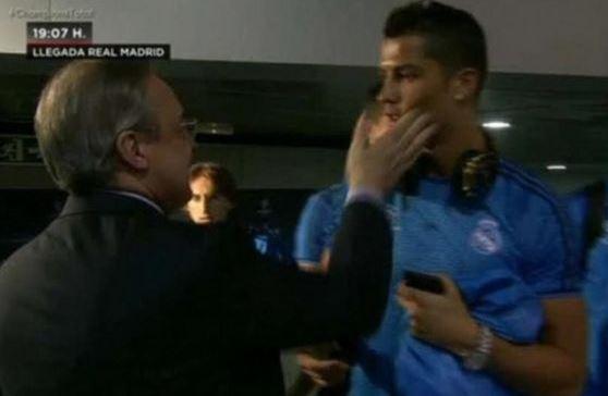 Cristiano Ronaldo slapped
