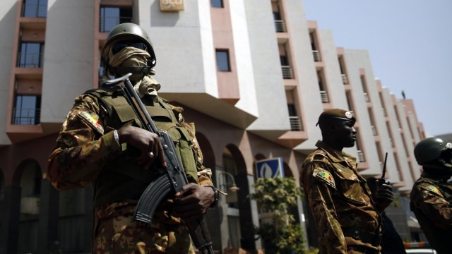 Malian Soldiers at Radisson Blue Hotel