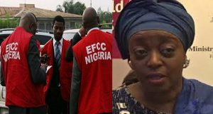 EFCC Officers and Diezani Alison-Madueke