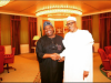 Chief Dele Momodu with President Muhammadu Buhari