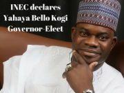 xxININEC declares Yahaya Bello Kogi Governor Elect e