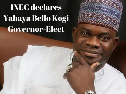 xxININEC declares Yahaya Bello Kogi Governor Elect e