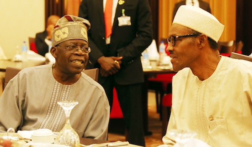 Bola Tinubu President Buhari At A Dinner