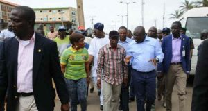 Governor Ambode In Ipaja Road