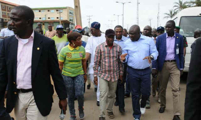 Governor Akinwunmi Ambode on Inspection Tour In Ipaja Road
