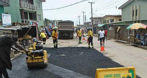 Lagos road repair