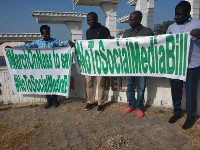 Social media bill protest