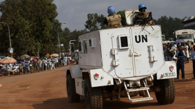 UN Peacekeeping Van