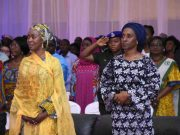 L to R Her Excellency Mrs Toyin Saraki with Her Excellency Mrs Dolapo Osinbanjo