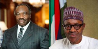 President Ali Bongo Ondimba of Gabon and President Muhammadu Buhari of Nigeria