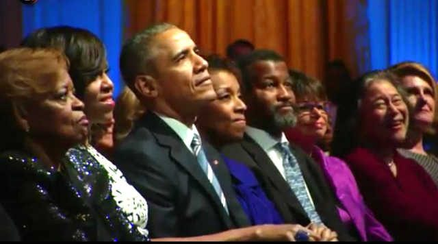 The Obamas and guests at White House Tribute To Ray Charles