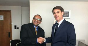 Andrew Alli CEO of AFC and Jan Martin Witte Head of Division for Infrastructure of KfW