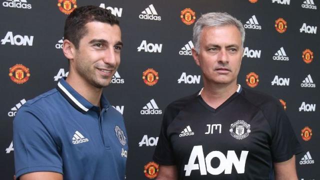 Jose Mourinho and Henrikh Mkhitaryan