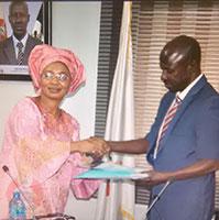 Victoria Enape with EFCC Boss Ibrahim Magu