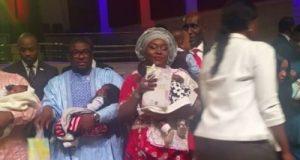 Emem Isong and hubby Misodi Akama dedicate twin babies Jewel and Divina