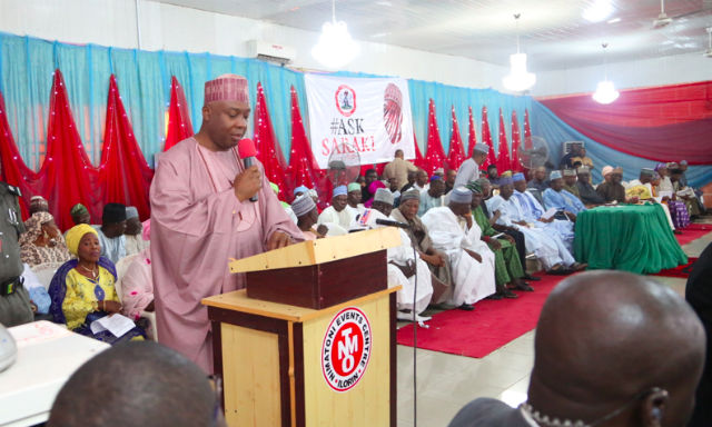 Senate President, Dr Bukola Saraki Addressing constituents at #AskSaraki Town Hall