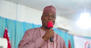AskSaraki Town Hall  Senate President Bukola Saraki Addressing constituents at AskSaraki Town Hall