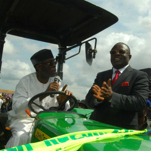 Chief Audu Ogbeh, on Monday flagged of the Governor David Umahi's Agric Programme