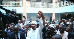 Saraki Vindicated Exclusive Pictures of Senate President Bukola Saraki and DSP Ike Ekweremadu at Court