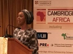 Toyin Saraki at Cambridge Africa Day United Kingdom October