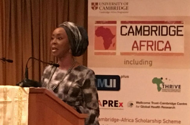 Toyin Saraki Delivers Keynote Address At University Of Cambridge's Africa Day 2016